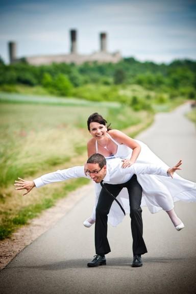 wyluzowana sesja ślubna