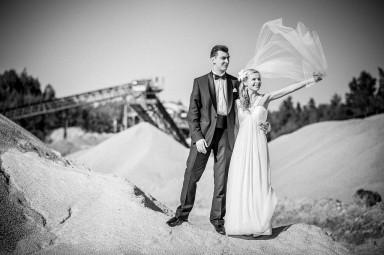 sesja ślubna z welonem