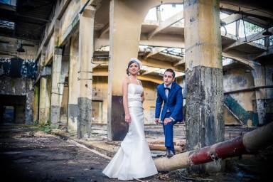 sesja ślubna stare budynki