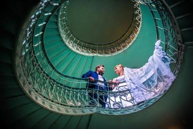 sesja ślubna schody