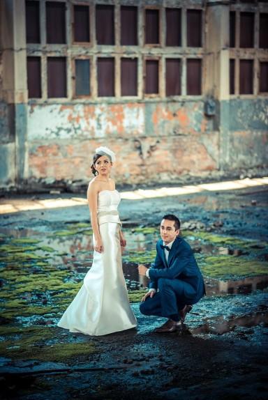 zdjęcia ślubne opuszczone hale