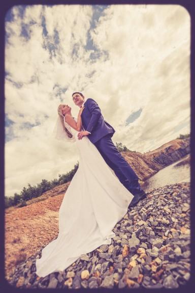 filmowa sesja ślubna