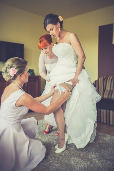 podwiązki ślubne