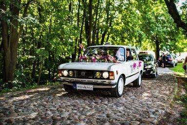 auto do ślubu Fiat 125p kielce