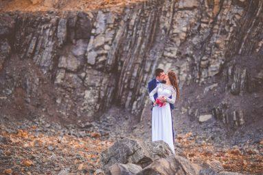 fotografia ślubna w kamieniołomie