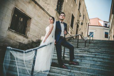 schody Sandomierz sesja slubna